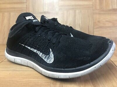 low priced bf4f5 12f04 RARE🔥 Nike Free 4.0 Flyknit Black White Men s Running Shoes Sz 11 631053 -001