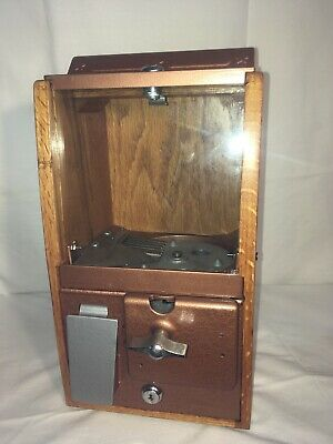 1950's Victor Baby Grand Gumball Vending Machine 5 Cent Small Gumball