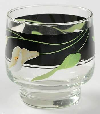 Sango BLACK LILIES (QUADRILLE) 8 Oz Old Fashioned Glass 4089388