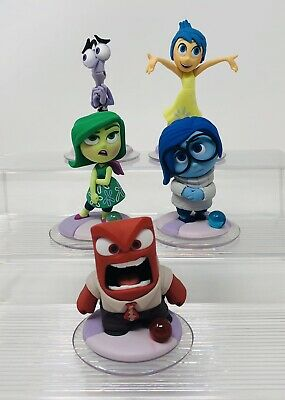 Disney Infinity Lot of 5 Figures Inside Out Joy Anger Fear Sadness Playset