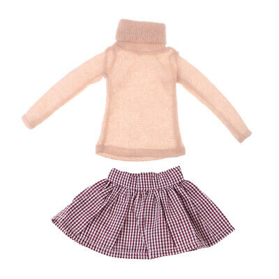 Modern Doll Clothes Set Turtleneck Sweater Pettiskirt for1/3 BJD Doll Accs