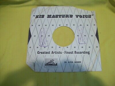 His Master's Voice 78 RPM Record Sleeve- Great Britain - Excellent