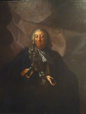 Huge 17th French Master Portrait Court Gentleman Hyacinthe RIGAUD (1659-1743)