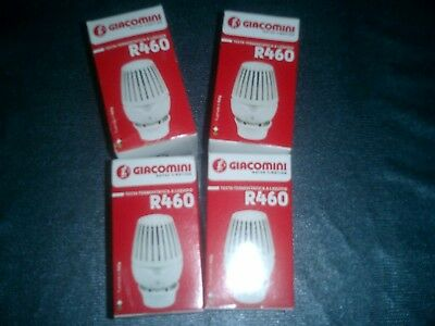 lot de 4 tetes thermostatiques giacomini