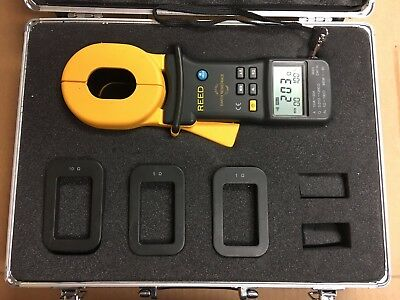 REED Instruments MS2301 Clamp-on Ground Resistance Tester Hard Carrying Case