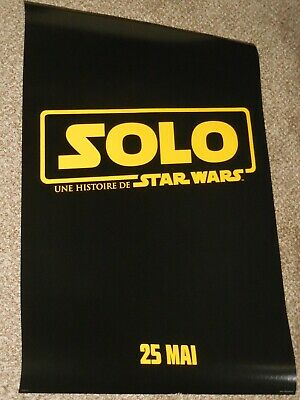 "Solo a Star Wars Story ""FRENCH VER A"" vg 27x40 Original D/S Movie Poster"