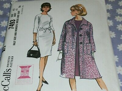 McCalls Patterns M7493 A5 Cropped Jacket 7493 Floor-Length Coat and A-Line Size 6-14 Square-Neck Dress