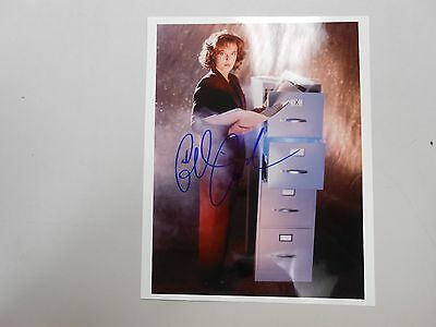 RARE EARLY Gillian Anderson X-Files Autographed Signed 8x10 Photo W/ COA ! LOOK!