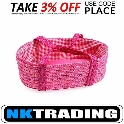 Egmont Woven Moses Basket Pink for Doll XTRA 3% OFF use code PLACE