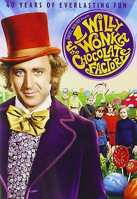 NEW Willy Wonka and the Chocolate Factory (DVD 40th Anniversay Gene Wilder MOVIE