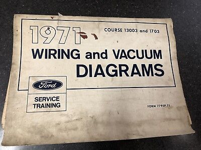 1971 ford mercury lincoln wiring vacuum diagrams mustang cougar torino  trucks