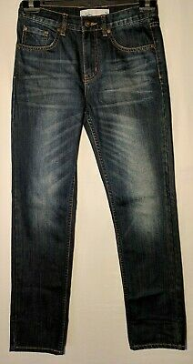"Boys Jeans Just Jeans Straight Leg Distressed Blue Size 14 Leg 30"" New"