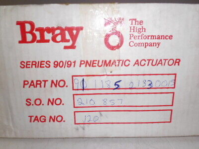 Bray 911185-21330015 Pnuematic Actuator * New In Box *