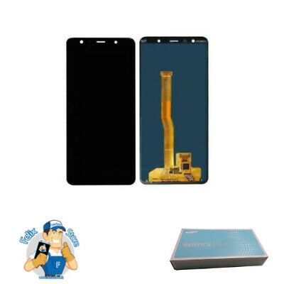 Display Lcd Touch Screen Originale Samsung Galaxy A7 2018 Sm-A750F Nero Black