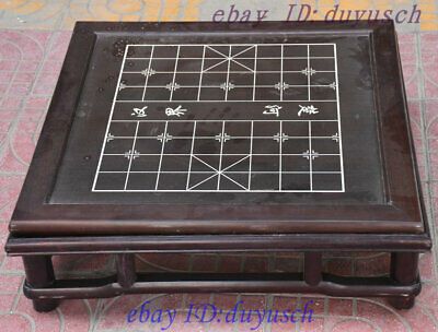 "23"" Old chinese Rosewood Wood Weiqi Chessboard Chess Checkerboard Tables statue"