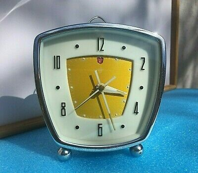 Vintage Mechanical Alarm Clock Diamond Shanghai Chinese China Old Collectible