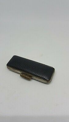Antique Leather Case With Chinese Seal Chit