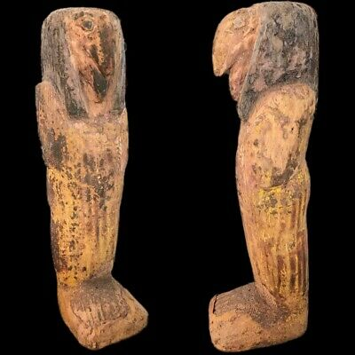 BEAUTIFUL ANCIENT HUGE EGYPTIAN WOODEN STATUETTE 300 BC (1) 26cm TALL !!!!!
