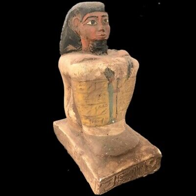 Beautiful Ancient Egyptian Pharaoh Statue 300 Bc (1) Large !!!!