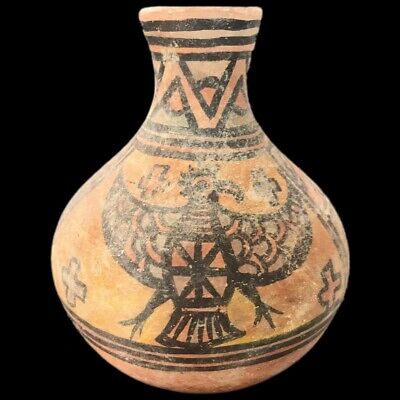 Roman Indus Valley Polychrome Storage Vessel, Rare Ancient Artifact