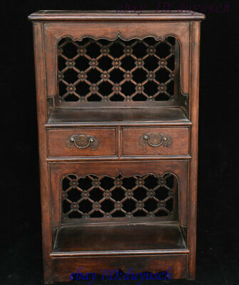 """27"""" Old Chinese huanghuali wood handcrafted Storage Box Boxes Cabinet Cupboard"""