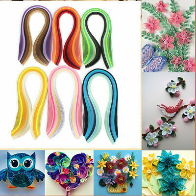 120 Strips 6 Colors Mixed Handcraft Origami Paper Quilling Paper 5mm DIY Crafts