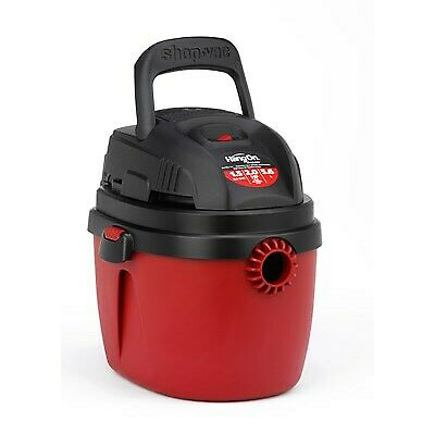Shop-Vac 2030100 1.5-Gallon 2.0 Peak HP Wet Dry Vacuum, Red/Black,w filter, bags