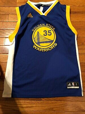 5362581f Adidas Golden State Warriors, Kevin Durant Youth Kids Blue Jersey Size  Large (7)