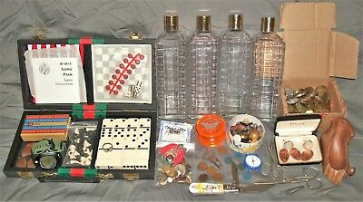 JUNK DRAWER LOT Jewelry POCKET KNIFE Watches NIKE Tokens COINS Pipe Rest GAMES