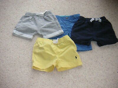 Baby Boys Shorts X 4 Age 6-9 Months Guc