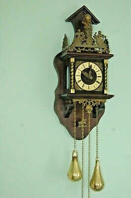 Vintage Dutch Warmink Wall Clock,chain Driven.