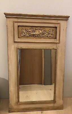 Gorgeous Vintage French Regency Trumeau Style Gold Gilt Large Mirror - Excellent