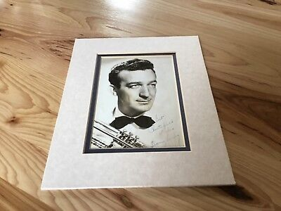 Harry James 1930s Band Leader Signed 5x7 Black & White Photo Matted to 8x10