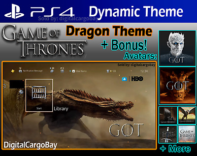Game of Thrones | PS4 Theme & Avatars | GOT Final Season 8 | Exclusive DLC Code