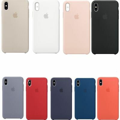Genuine Silicone Sottile Custodia Cover per Apple iPhone X/XS MAX 8 7 6s plus c3