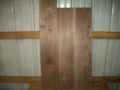 "3 Pc Walnut Lumber Wood Kiln Dried Boards 1"" Thick Lot 1183Z End Matched"