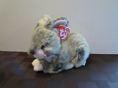 Mint w// Tag 2004 Ty Beanie Babies Muff the fluffy white Cat PE Pellets