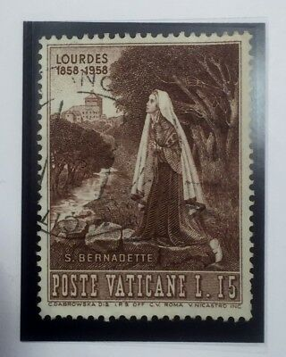 Vatican City Stamp 1958 St.bernadette-Lourdes-Commemorative Scott238-Efmnh