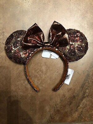 40dc05c825a Disney Parks Giraffe Brown Gold Sequin Minnie Ears Headband Animal Kingdom  NWT