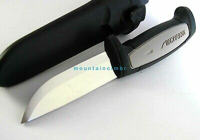 Morakniv Mora ROBUST Carbon Steel Blade Knife Grey Black Handle Sweden