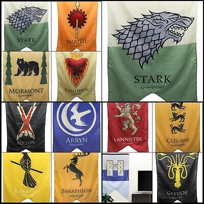 "Calhoun Game of Thrones House Sigil Wall Banner, 30"" by 50"" 100% Woven Polyester"