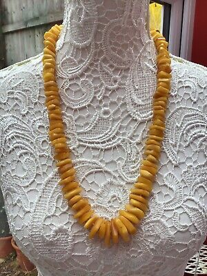 Vintage Genuine Butterscotch Baltic Chunky Amber Necklace 90g