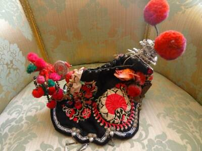 An Oriental Antique Early 20th Cent Colourful Unusual Tribal Headdress