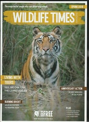 BORN FREE WiLDLIFE TIMES Magazine Spring 2019 + Autumn 2018 VGC