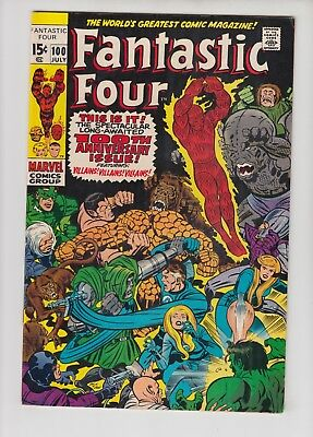 Fantastic Four #100 Fn* Condition, 1970 Marvel, Anniversary Issue!!