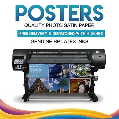 YOUR PHOTO on PAPER SATIN 200GSM PERSONALISED POSTER PRINT