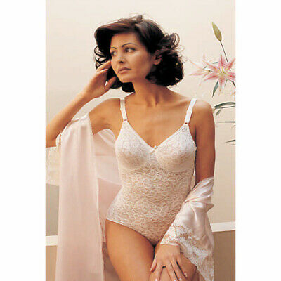 1dc2818e2 New Bali Lace N  Smooth Stretch Lace Firm Control Body Briefer Wh 38DD