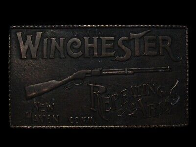 MG19107 VINTAGE 1970s KOLEACO **WINCHESTER REPEATING ARMS** GUN BELT BUCKLE