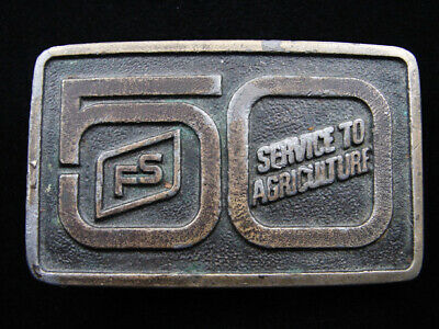 Rf15157 Vintage 1976 **Fs Service To Agriculture 50 Years** Belt Buckle