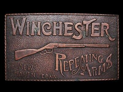 MI23118 VINTAGE 1970s **WINCHESTER REPEATING ARMS** BELT BUCKLE